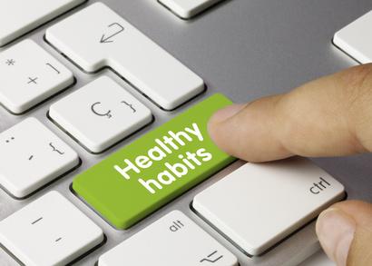 Healthy habits keyboard key